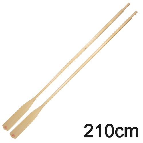 1 Paar Bootsriemen Holz 210cm