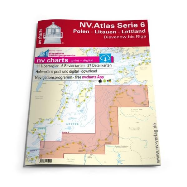 Sportschifffahrtskarten See Serie 6 Atlas (gebunden 30x42cm)