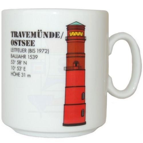 Leuchtturmtasse Travemünde/Ostsee