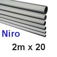 Niro-Rohr 2m x 20x1,5mm