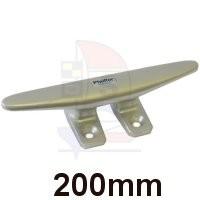 Belegklampe 4 Befestigungen 200mm silber