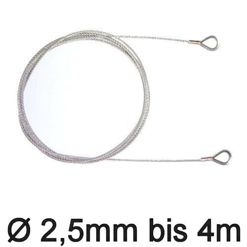 Trapez-Wante mit Kauschen 2,5mm flex 3,10