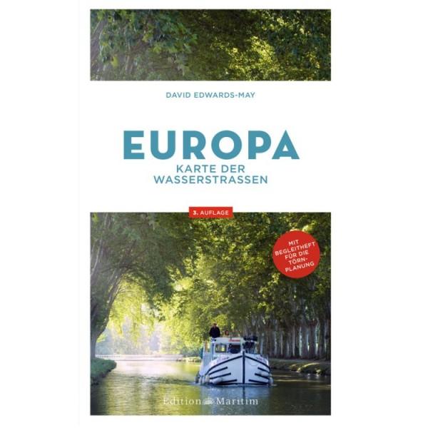 Karte der Wasserstraßen - Europa