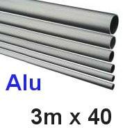 Alu-Rohr 3m x 40x2,0mm silber eloxiert