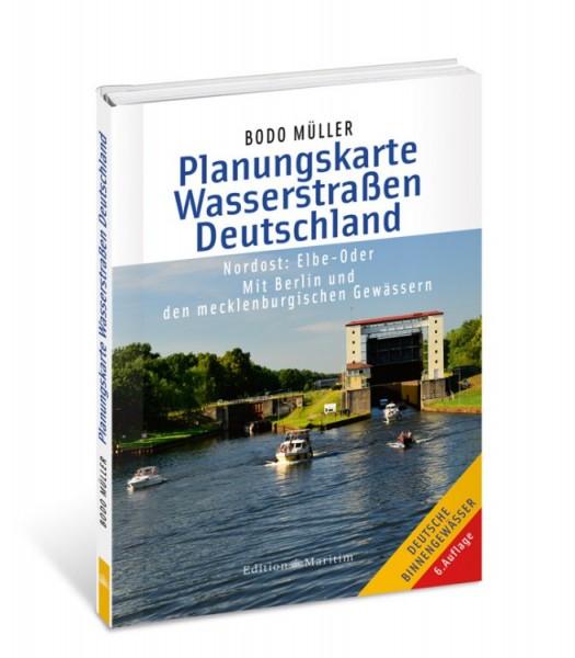 Planungskarte Wasserstraßen Deutschland Nordost / Müller
