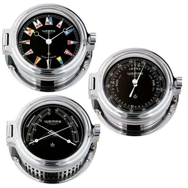 Wempe Regatta 3-er Set Quarzuhr + Barometer + Comfortmeter