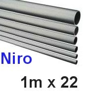 Niro-Rohr 1m x 22x1,5mm