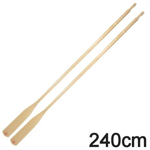 1 Paar Bootsriemen Holz 240cm
