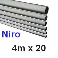 Niro-Rohr 4m x 20x1,5mm