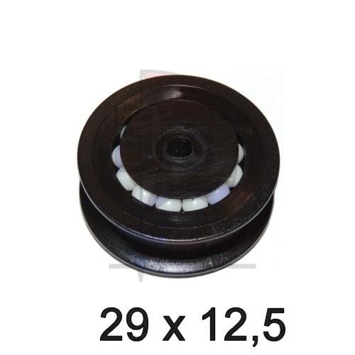 Seilscheibe Delrin schwarz 29 x 12,5