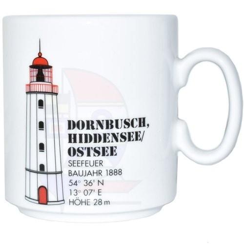 Leuchtturmtasse Dornbusch / Ostsee