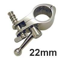 Rohrmittelgelenkstück aufklappbar mit Knebel 22mm