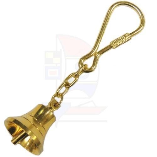 Schlüsselanhänger Messing Glocke