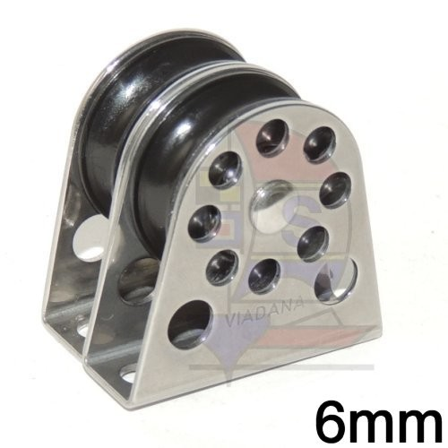 Viadana Bockrolle 2fach 6mm