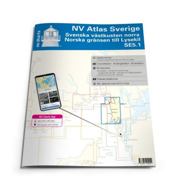Sportschifffahrtskarten See Serie SE 5.1 Atlas (gebunden 30x42cm)