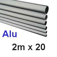 Alu-Rohr 2m x 20x2,0mm silber eloxiert