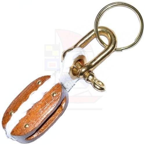 Schlüsselanhänger Holzblock
