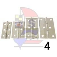 Scharnier Edelstahl 50x75 / 6L Typ 4