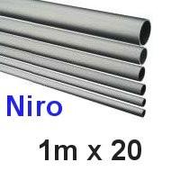 Niro-Rohr 1m x 20x1,5mm