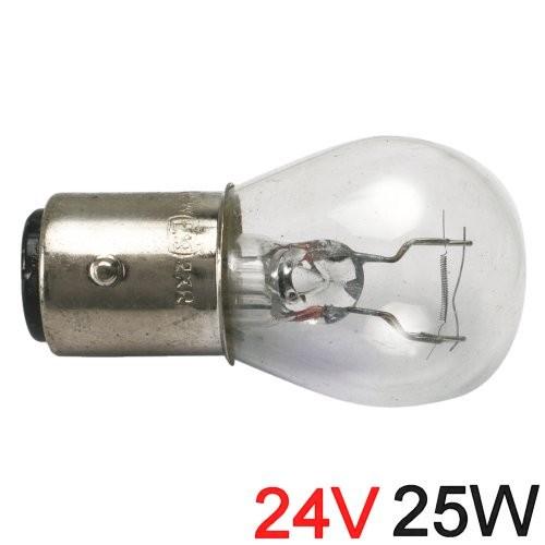 Glühlampe 25W BA Y 15d runde Form 24V