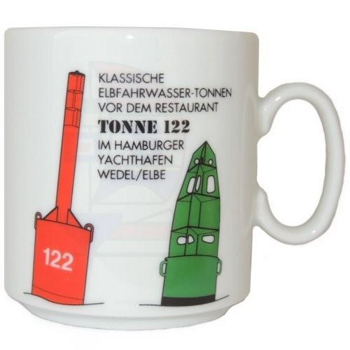 Leuchtturmtasse Tonne 122 / Elbe