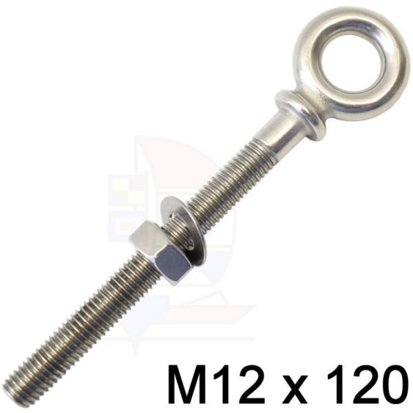 Augbolzen mit Kragen M12x120mm