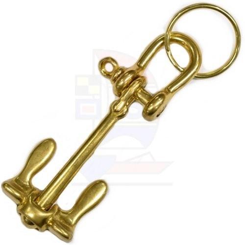 Schlüsselanhänger Messing Anker groß