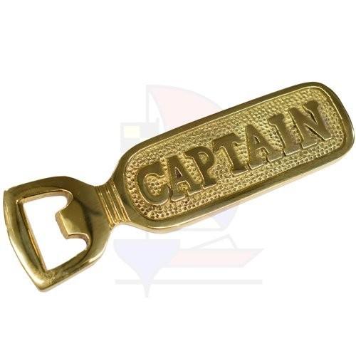 Flaschenöffner Captain Messing