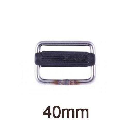 Gurtschnalle Edelstahl mit Nylon-Steg 40mm