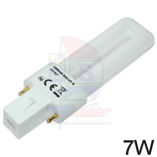 Kompaktleuchtstofflampe Sockel G23, 2Pin, 7W
