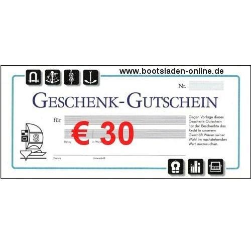 Geschenkgutschein € 30