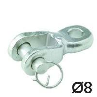 Toggle Auge / Gabel 8mm