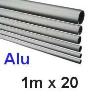 Alu-Rohr 1m x 20x2,0mm silber eloxiert