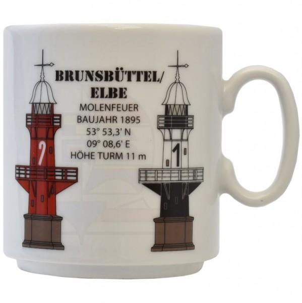 Leuchtturmtasse Brunsbüttel / Elbe