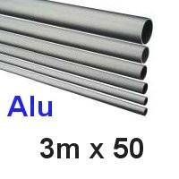 Alu-Rohr 3m x 50x2,5mm silber eloxiert