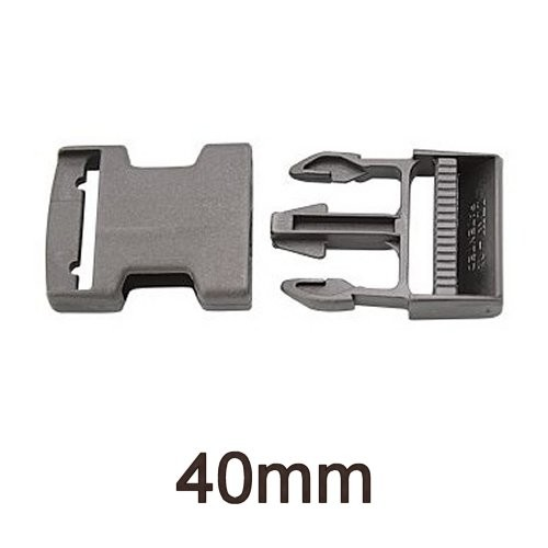 Steckschnalle Kunststoff 40mm