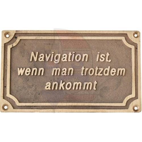 Messingschild Navigation