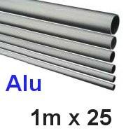Alu-Rohr 1m x 25x2,0mm silber eloxiert