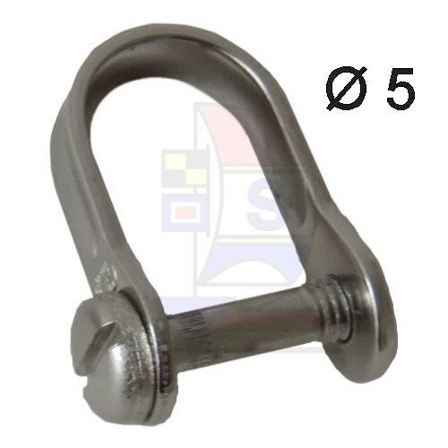 Flachschraubschäkel mit Zylinderkopf M5 x 20