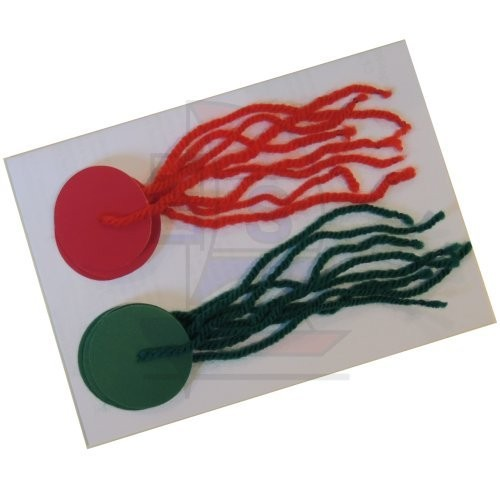 Segel-Trimmfäden selbstklebend rot / grün