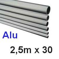 Alu-Rohr 2,5m x 30x1,5mm silber eloxiert