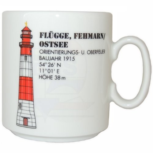 Leuchtturmtasse Flügge Fehmarn / Ostsee