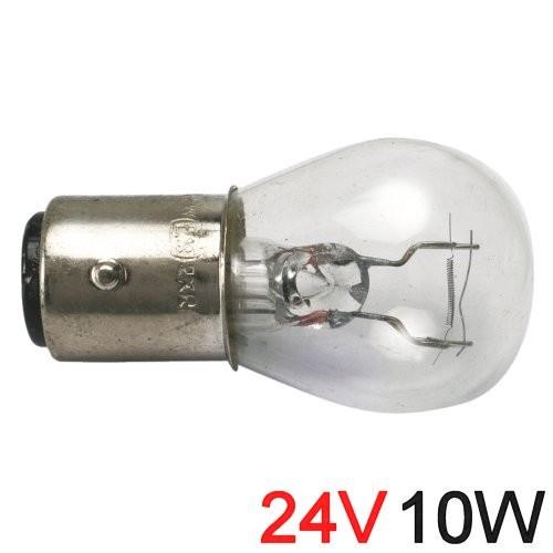 Glühlampe 10W BA Y 15d runde Form 24V
