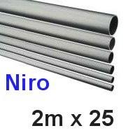 Niro-Rohr 2m x 25x1,5mm