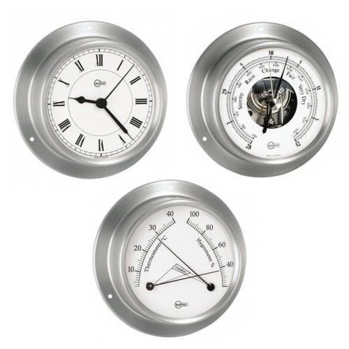 Barigo Sky weiß 3-er Set Quarzuhr + Barometer + Comfortmeter