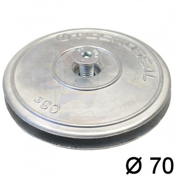 Ruderblattanode Zink 2-teilig 70