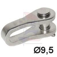 Selden Toggle Auge / Gabel 9,5mm Hasselfors