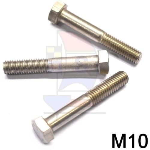 Sechskantkopfschraube mit Schaft M10