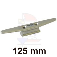 Mastklampe 125mm silber