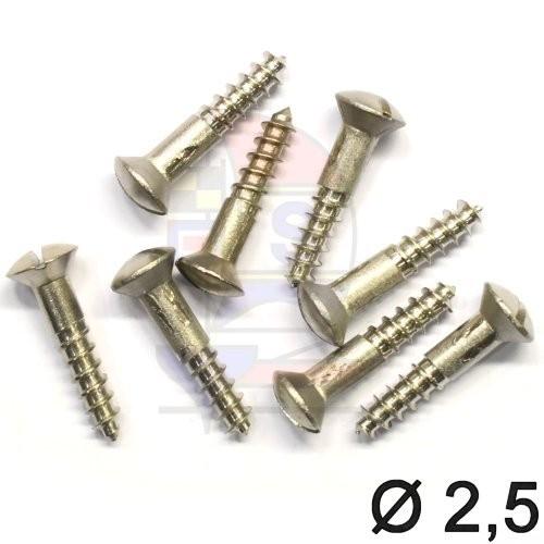 Linsensenkkopfschraube 2,5 (DIN 95) 12mm